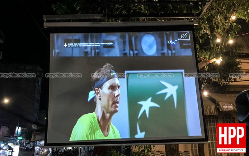 Lắp đặt máy chiếu bóng đá Optoma SA500 tại Dầu Tiếng, Bình Dương