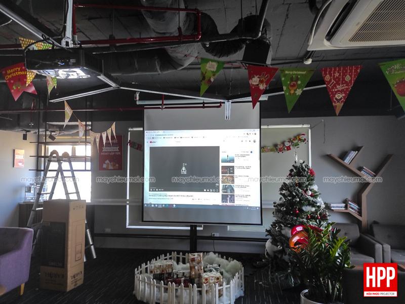 Lắp đặt máy chiếu Optoma PW450 tại Dĩ An, Bình Dương