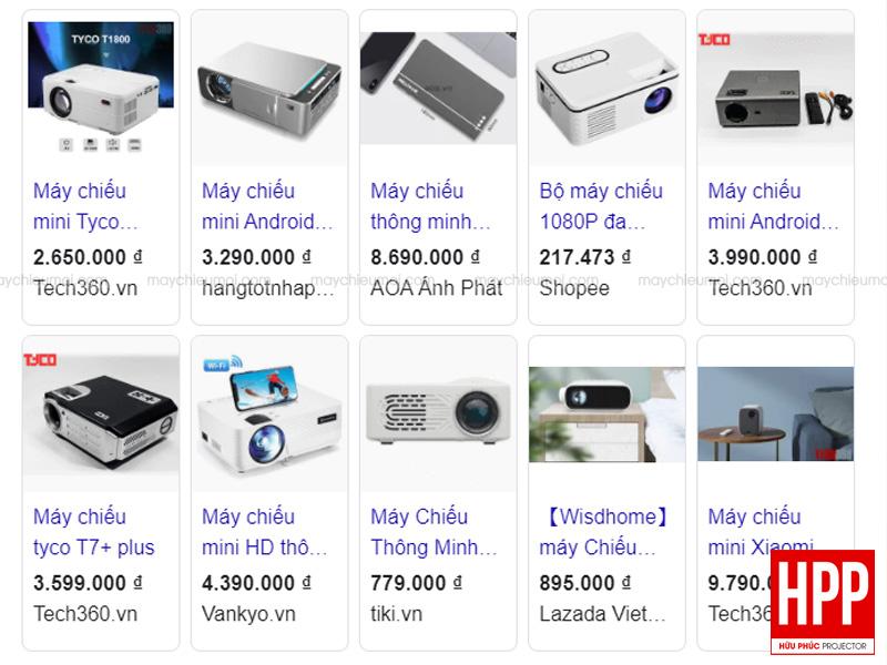 Máy chiếu mini giá rẻ dưới 1 triệu